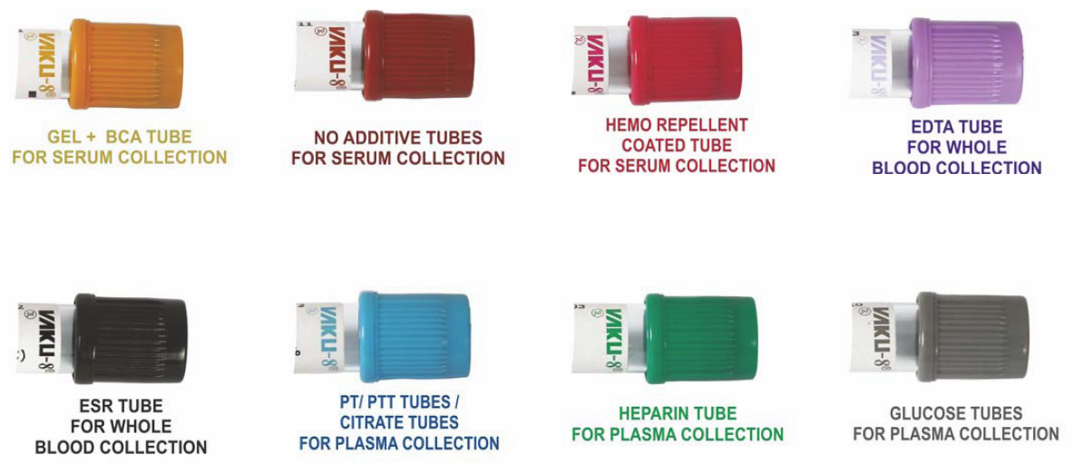 TYPES OF BLOOD COLLECTION TUBES WITH MONOCOP