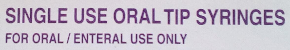 Single Use ORAL TIP Syringes