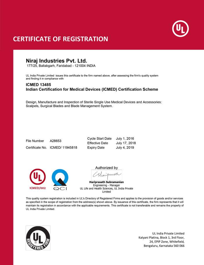 Neeraj ICMED Certificate