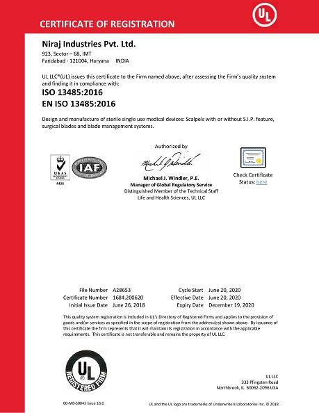 Niraj ISO 13485