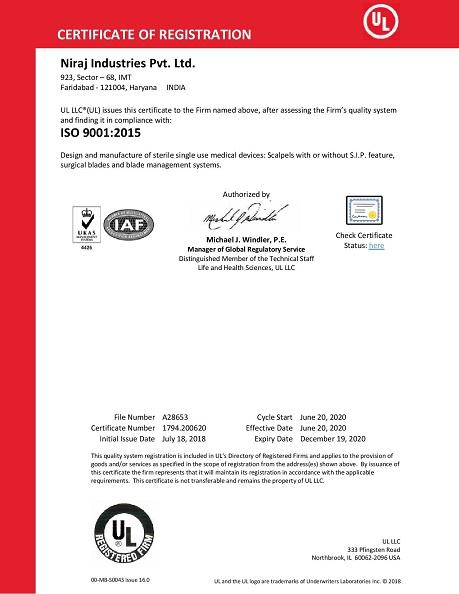 Niraj ISO 9001