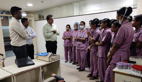 Sessions of Blood Draw Procedures Training at Nanjappa Hospital
